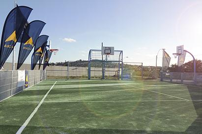 ANCAP y Fundación Celeste inauguraron espacio polideportivo en La Teja